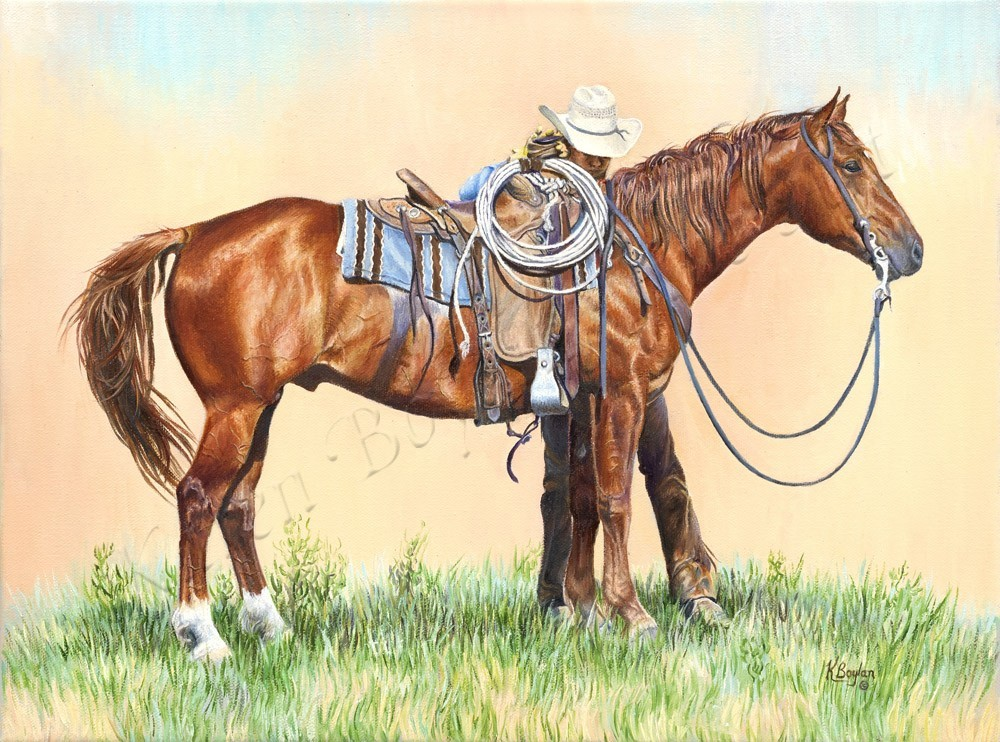 Checking His Cinch-Karen Boylan